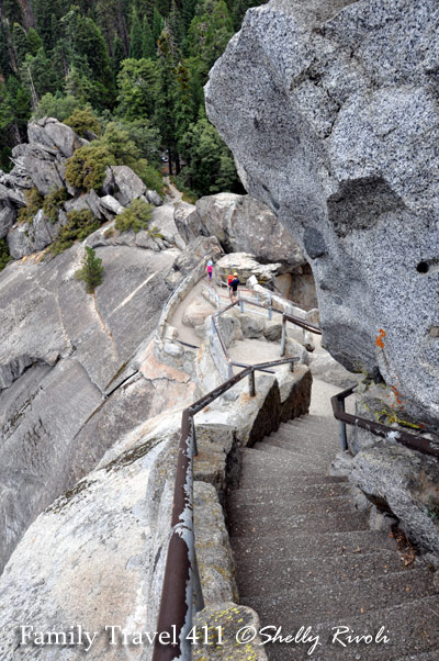 Working our way back down from the top of Morro Rock - You can see why for some it's actually easier hiking up than it is facing this view on the way back down.
