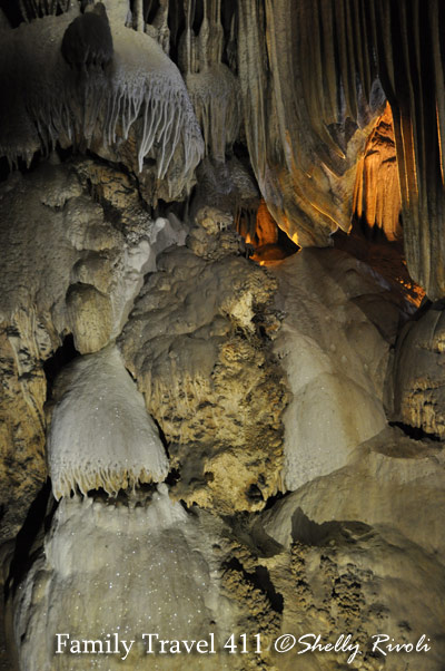 """The """"Organ Room"""" inside Crystal Cave at Sequoia National Park."""