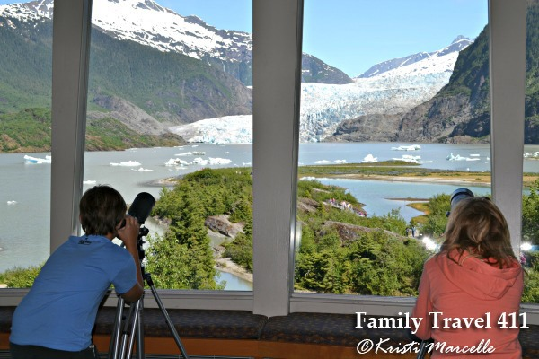 Mendenhall Glacier with kids
