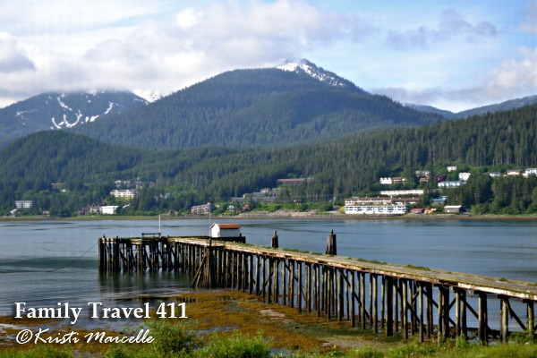 View from the Prospector Hotel, ideally situated for a visit to Juneau, Alaska with kids.