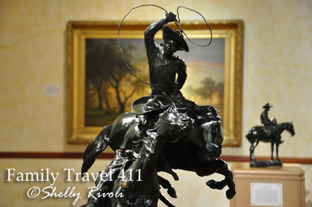 One of many bronze sculptures by Frederic Remington housed at the R.W. Norton Art Gallery.