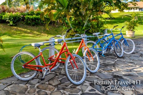 bikes at Travaasa Hana