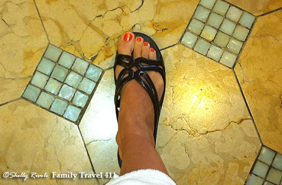 A fresh pedicure at the Claremont Spa in Berkeley.