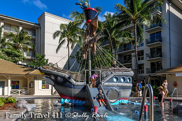 The Pirate Ship kiddie pool at Westin Kaanapali Ocean Resort Villas.