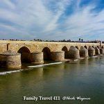 Roman Bridge when seeing Cordoba with kids