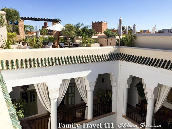Courtyard inside the Riad Camilia courtyard, Marrakech.