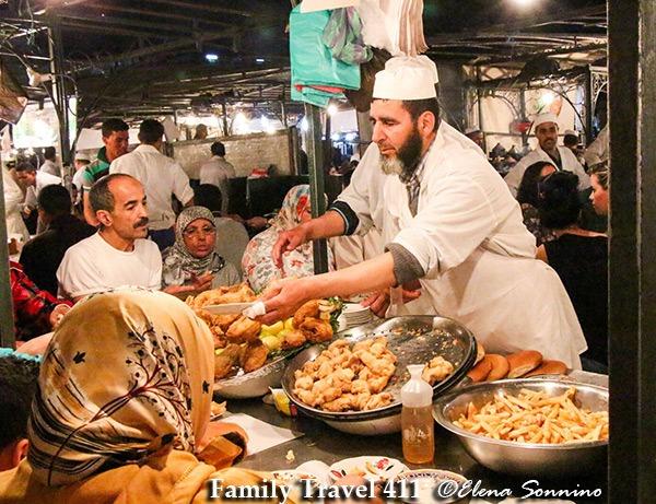 Marrakech seafood at Jemaa el Fna