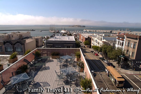 View from the roof at The Suites at Fisherman's Wharf