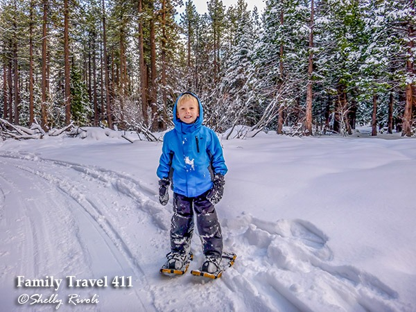 South Tahoe with kids--by snowshoe!
