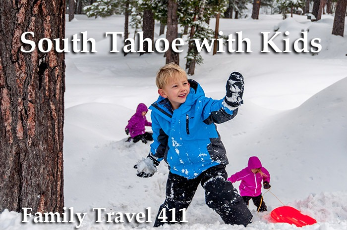 South Tahoe with kids in snow