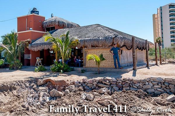 Restaurant Cuquita awaits beside the sea in La Paz, Mexico.