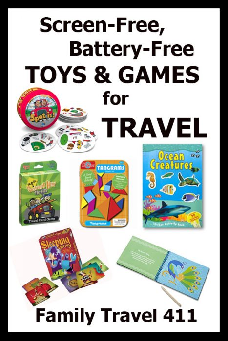 Screen-free travel toys and games for travel with kids