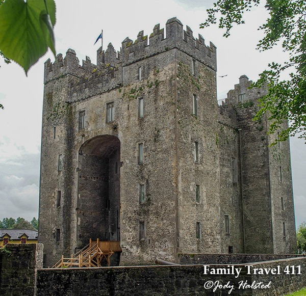 The towering entrance to Bunratty Castle in County Clare.