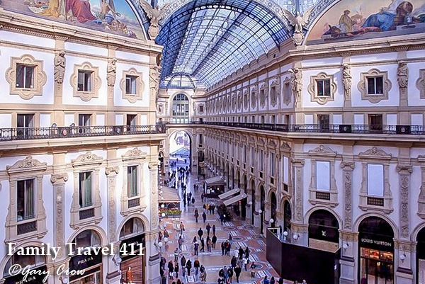 Milan with kids galleria
