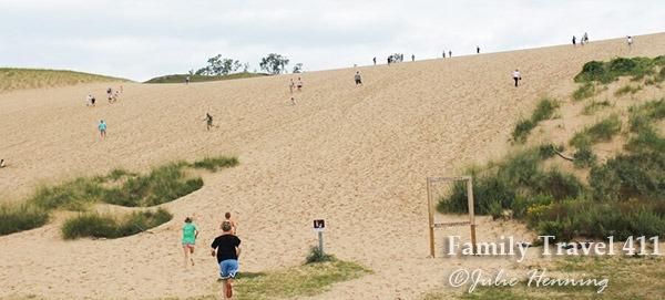 Irresistible dunes at Sleeping Bear Lake.