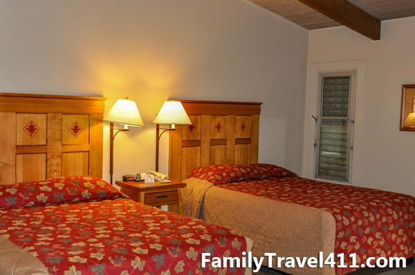 Double room at Yosemite Valley Lodge.