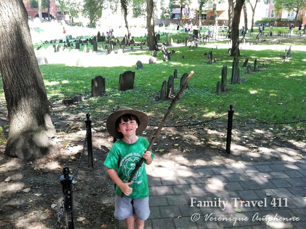 Exploring the historic Freedom Trail on a trip to Boston with Kids.