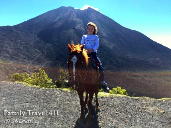 Volcano by horseback!