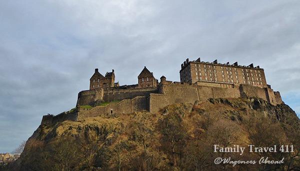 Morning at Edinburgh Castle.