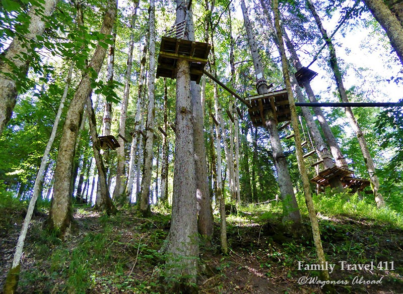 Fly through the trees on your visit to Morzine with kids.
