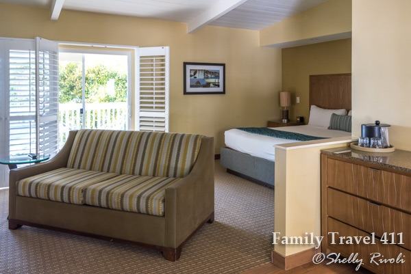 Our king room with queen sofabed at the Inn at Morro Bay.