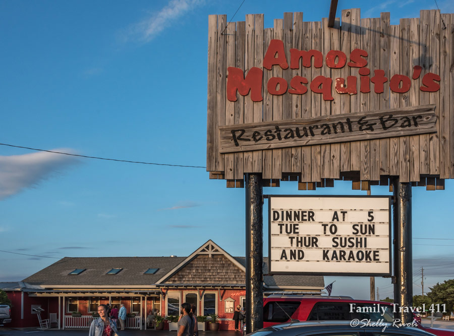 Get a serious seafood fix at Amos Mosquito's family-friendly restaurant on Emerald Isle.