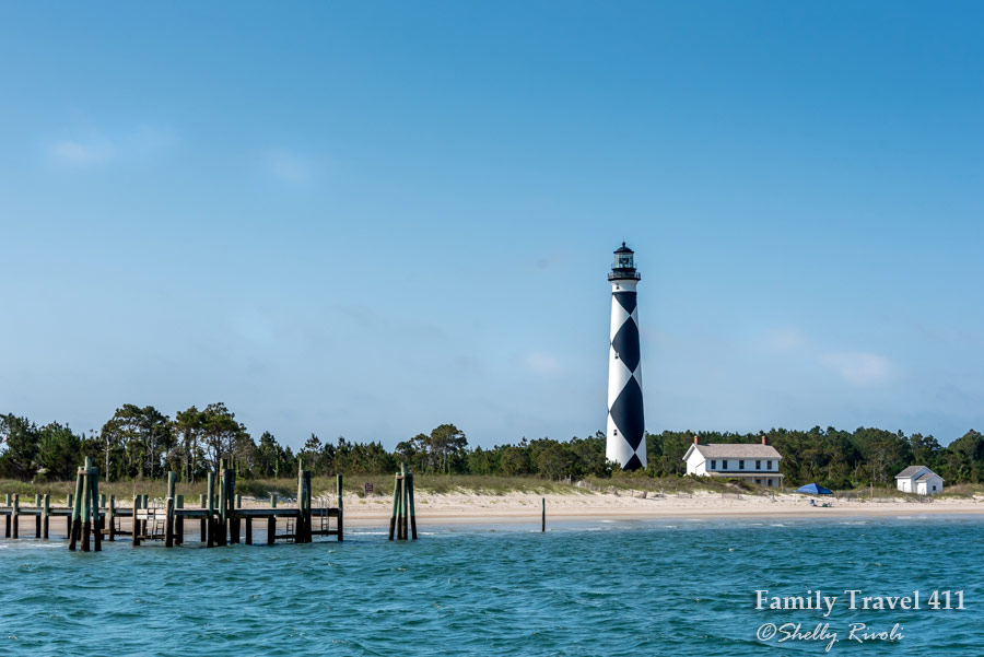 """Cape Lookout Lighthouse with its black and white diamonds is also known as, """"The Diamond Lady"""" of North Carolina's Crystal Coast."""