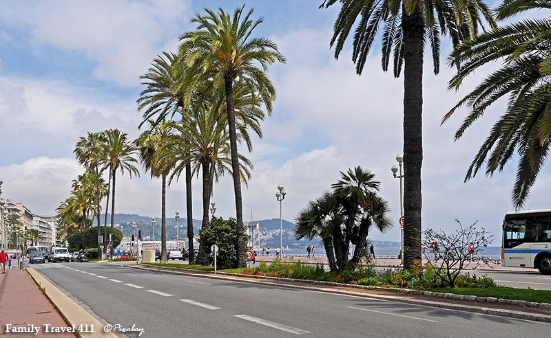 Bike or stroll along the promenade on your trip to Nice with kids.