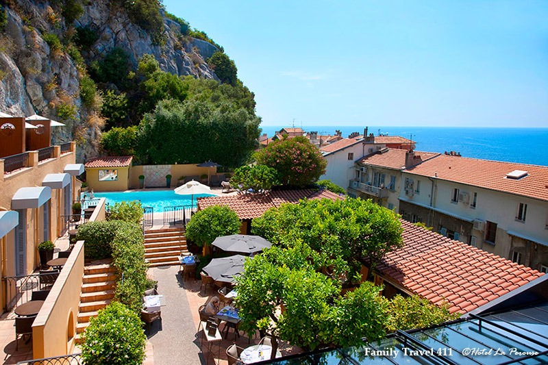 Perfectly perched Hotel La Perouse in Nice.