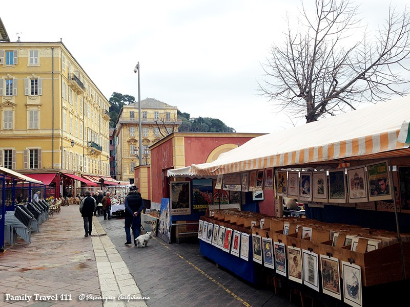 A glimpse of Nice's colorful art market.