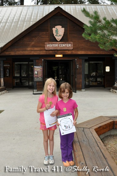 Proud new Junior Rangers sporting their badges at Sequoia National Park.