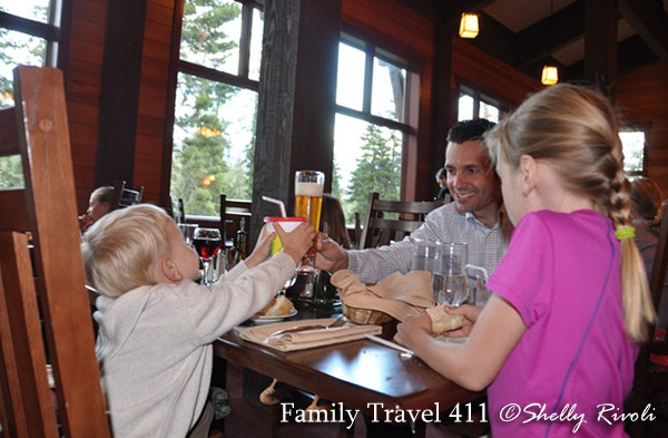 The Peaks at Wuksachi Lodge has sophisticated fare, but also a family-friendly atmosphere.