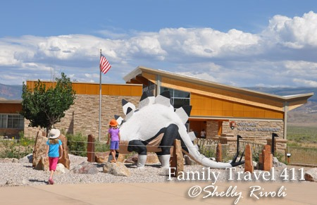 Outside the Quarry Visitor Center at Dinosaur National Monument.
