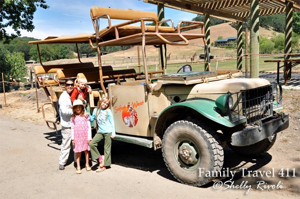 safari jeep used at Safari West Wildlife Preserve in Santa Rosa