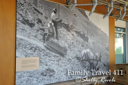 historical photos of the hard work that began at Dinosaur National Monument in the early 1900s.