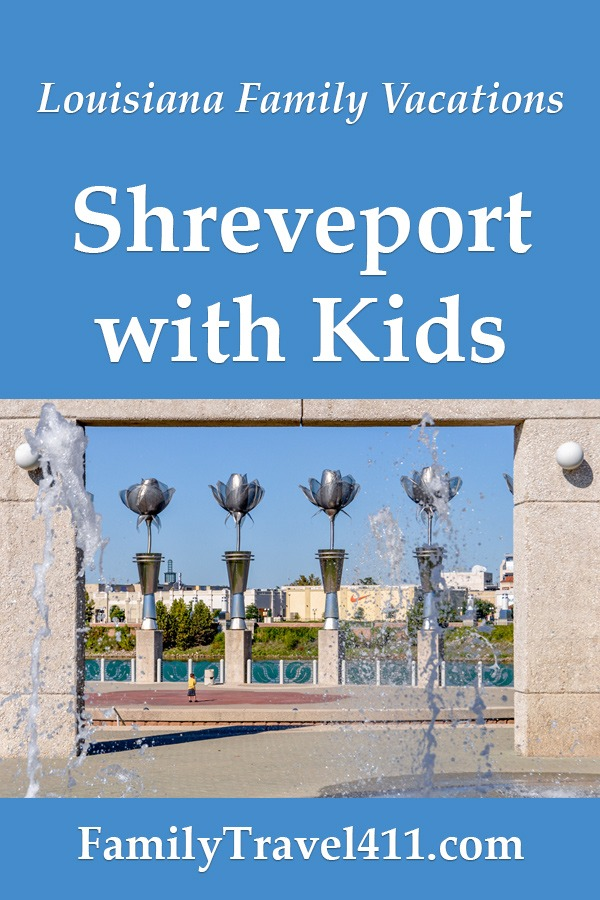 family-friendly waterfront for parents visiting Shreveport with kids