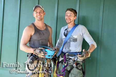 Too small--or too scared--to go it alone? Go tandem with pro zip-liners Luke and Kent.