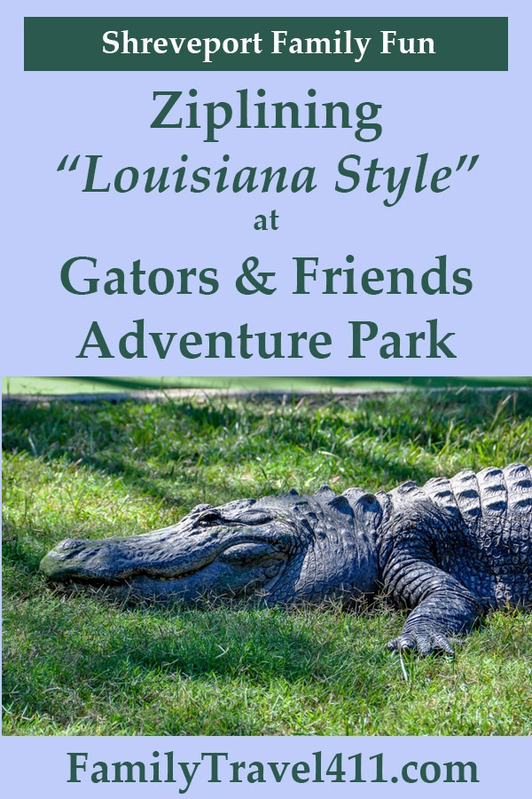ziplining in Louisiana with Gators and Friends