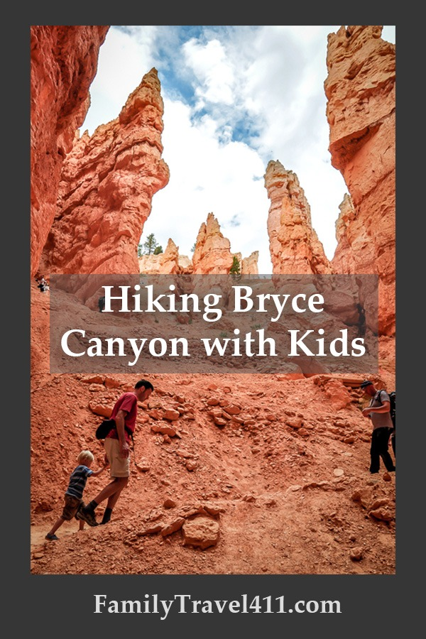 toddler and father hiking bryce canyon