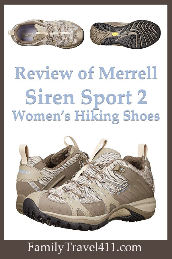 Review of Merrell Siren Sport 2 women's shoes for hiking