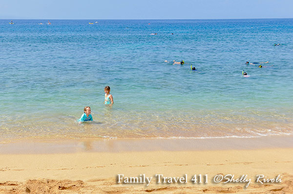Kid-friendly shoreline, kid-friendly snorkeling at the Westin Kaanapali Ocean Resort Villas in Maui.
