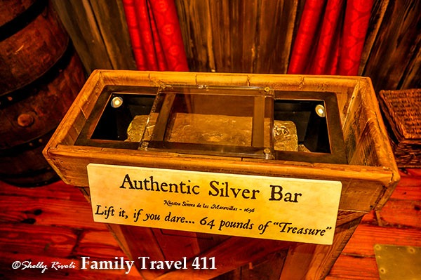 Silver bar at Key West shipwreck museum