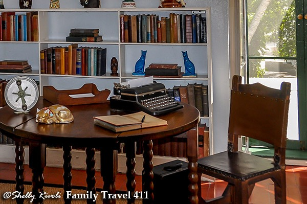 Ernest Hemingway's writing table and typewriter