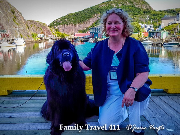 "Contributor Jessie Voigts, up close and personal with a native ""Newfie."""