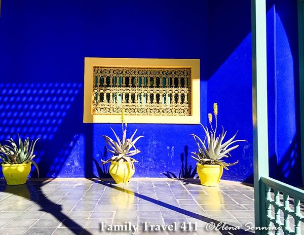 Marrakech color at Majorelle gardens