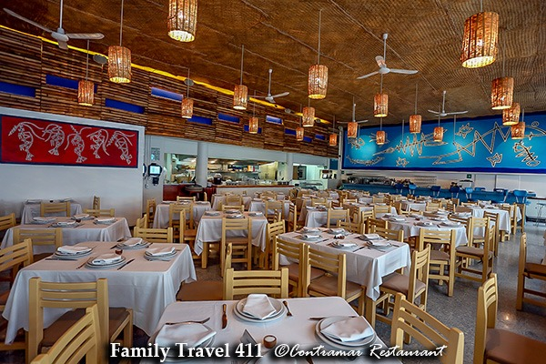 Family-friendly dining at Contramar Restaurant.