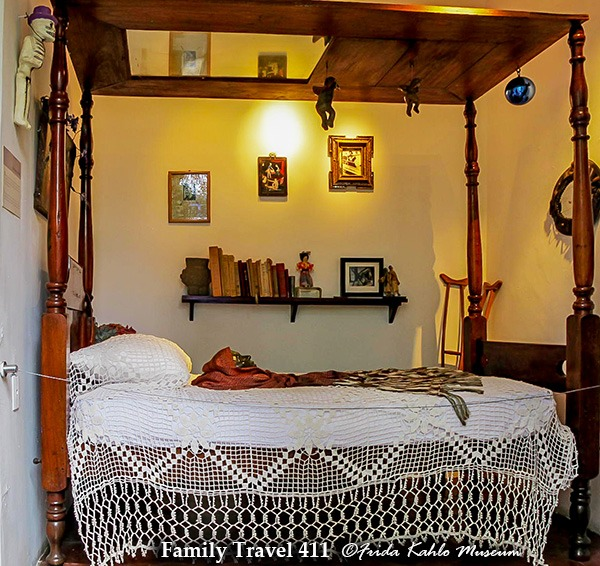 Frida Kahlo's bed at the Casa Azul in Mexico City.