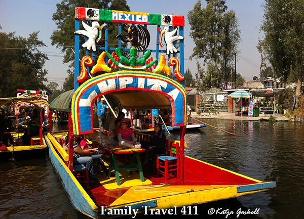 The colorful floating markets at Xochimilco in Mexico City