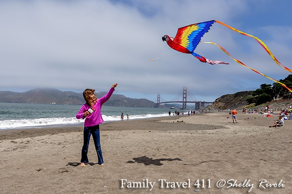 Baker Beach in San Francisco with kids