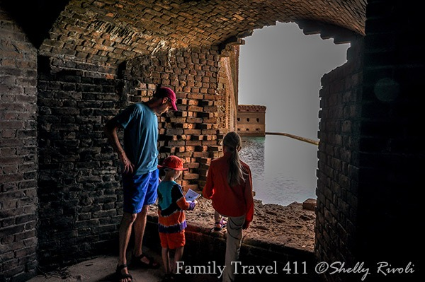 a family explores Fort Jefferson at Dry Tortugas